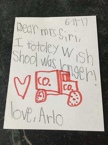 Arlos Card for Mrs. Siri