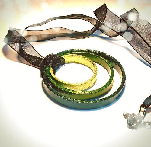 Circular Paper Necklace by Art By Heart Sara Fontana