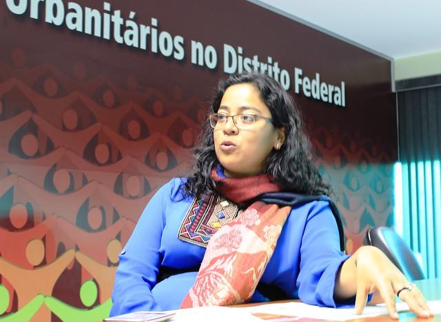 Fabíola Latino Antezana, diretora do Sindicato dos Urbanitários no Distrito Federal (STIU-DF) - Créditos: Henrique Teixeira/STIU-DF