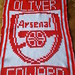 Arsenal blanket for Oliver