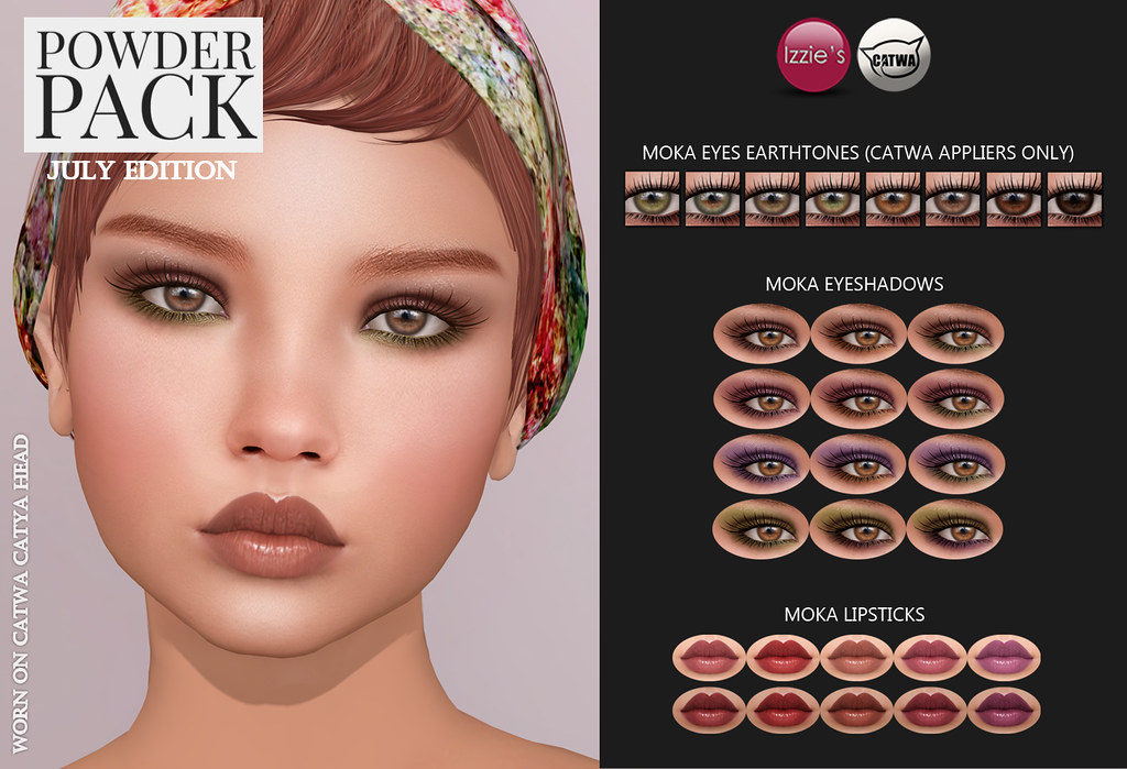 Powder Pack Catwa July Edition - SecondLifeHub.com