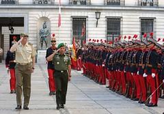 El JEME indonesio GE Mulyono, junto a una delegación del Ejército indonesio, ha visitado hoy el Palacio de Buenavista, sede del Cuartel General del E.T.