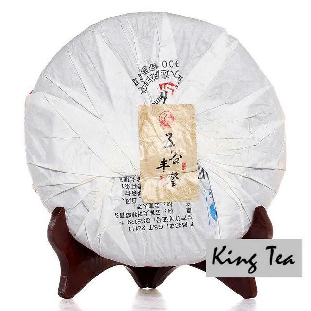 Free Shipping 2014 XiaGuan WuGuFengDeng Cake Beeng 357g YunNan China YunNan Chinese Puer Puerh Raw Tea Sheng Cha Premium Slim Beauty