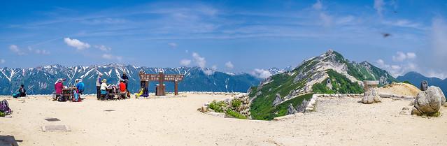 燕山荘からの風景