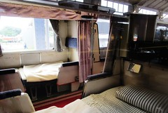 Open section sleeping car interior at the Kyoto Railway Museum 8521