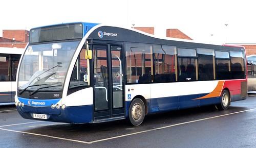 YJ10 EYD 'Stagecoach East' No. 25271 Optare Versa V1110 on 'Dennis Basford's railsroadsrunways.blogspot.co.uk