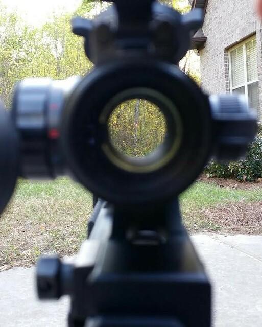 ak47 mount 3x magnifier & red dot9