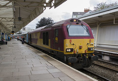 67016 at Newport: 1W96 1716 Cardiff Central to Holyhead