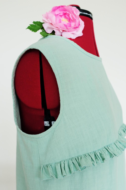 marchewkowa, blog, szycie, sewing, rękodzieło, handmade, moda, styl, vintage, retro, repro, 1950s, 1960s, Wrocław szyje, w starym stylu, mint green, crushed cotton, Textilmania, Beyer Moden