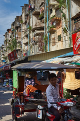 Tuk-Tuk down the White Building, Phnom Penh, Cambodia