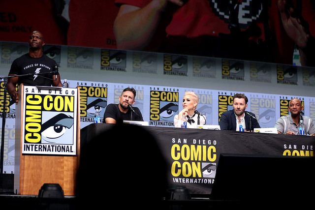 Terry Crews, David Ayer, Noomi Rapace, Joel Edgerton & Will Smith