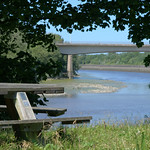 Picnic bench at the River Ribble