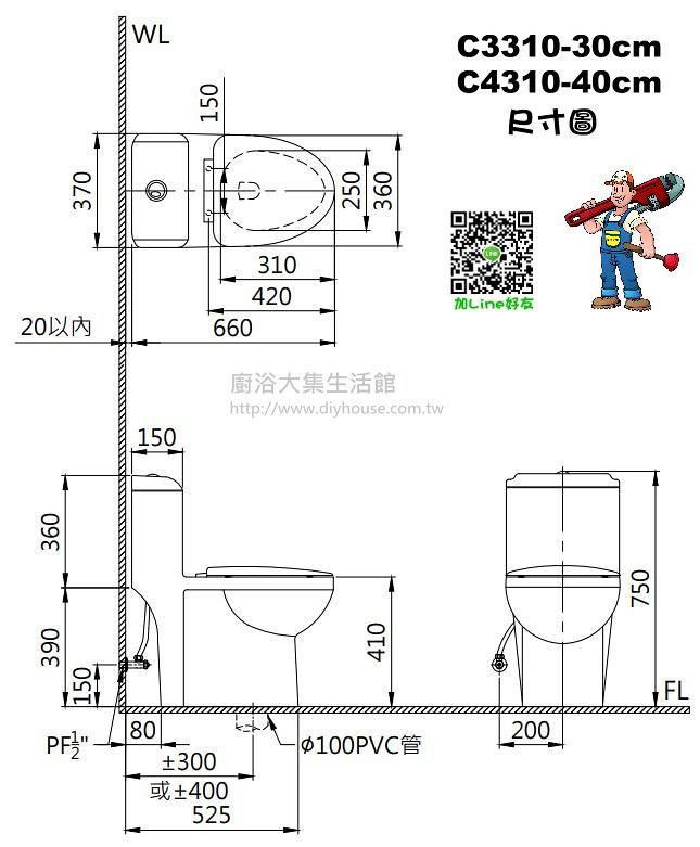 C3310 Size