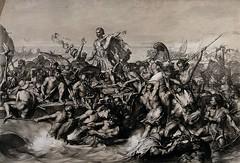First invasions of Julius Caesar in Britain, by Edward Armitag