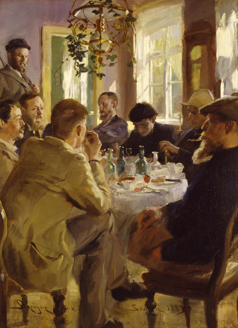 At Lunch by Peder Severin Krøyer, 1883