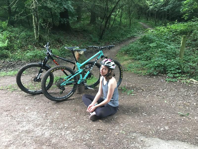 Jessie's new bike day