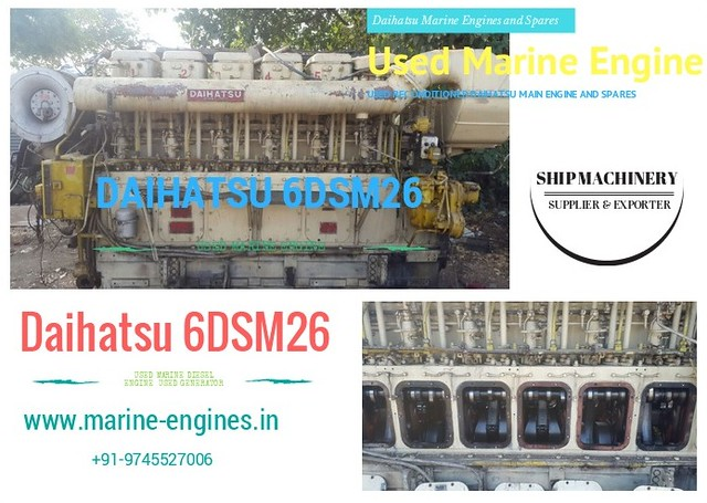 Daihatsu 6DSM26, Supplier Daihatsu Engine, Daihatsu 6 dsm 26 spare parts, sale, in stock, used, recondition,