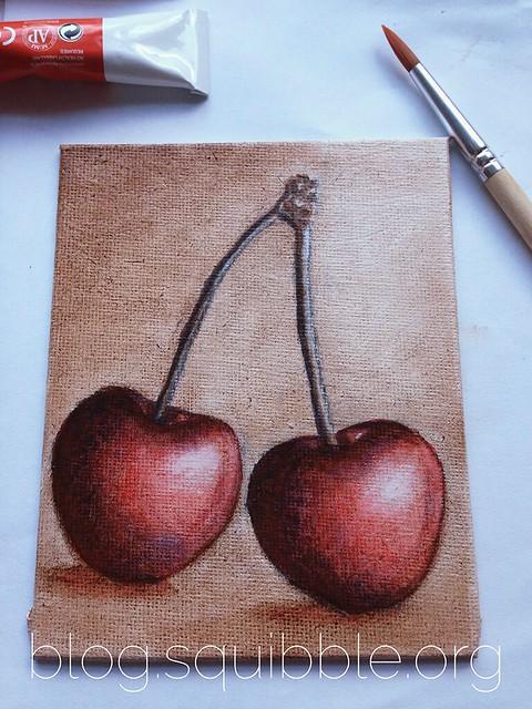 Cherry Painting WIP