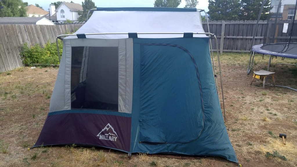 Finally tested the tent. Need to put stakes first. The poles held fine in moderate wind. Havenu0027t gone in the wild yet just in the backyard. & Those who have Hillary tent... how do the arches hold against wind ...