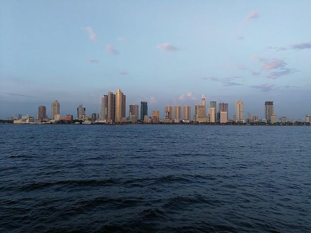 Manila skyline from Manila Bay