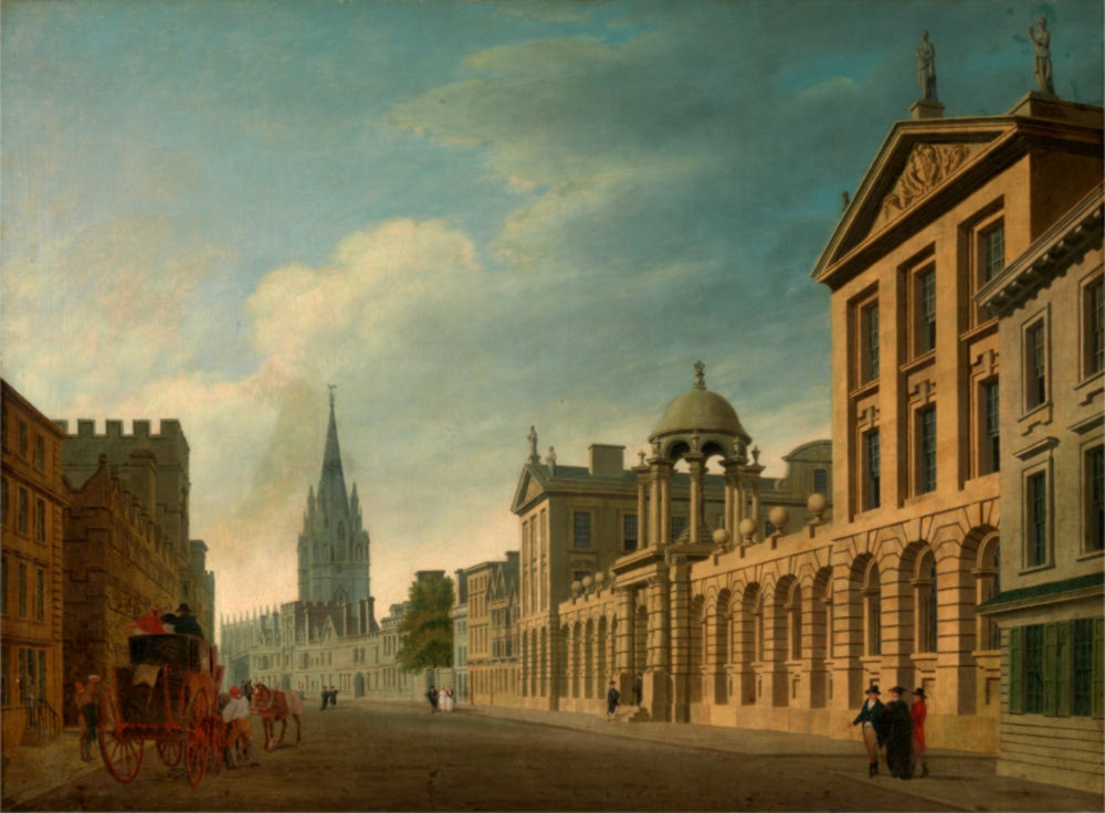 High Street, Oxford by Thomas Malton the Younger, 1799