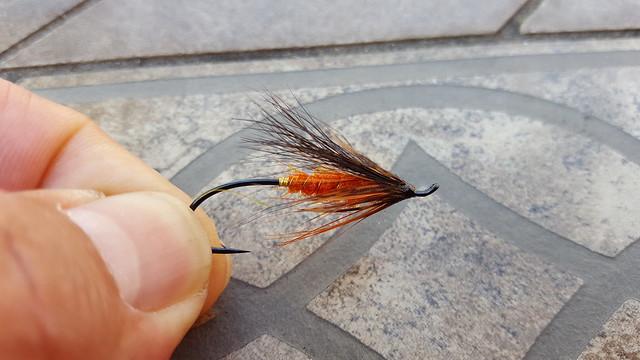 October Spey black #4  Salmon Steelhead Flies