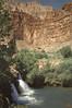Canyon Cascade by Allen C. Reed, Fifty-Foot Falls at Havasu Creek, Arizona Highways, July 1949