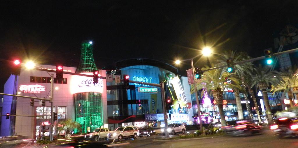 Bulevar Strip Las Vegas de noche Nevada EEUU
