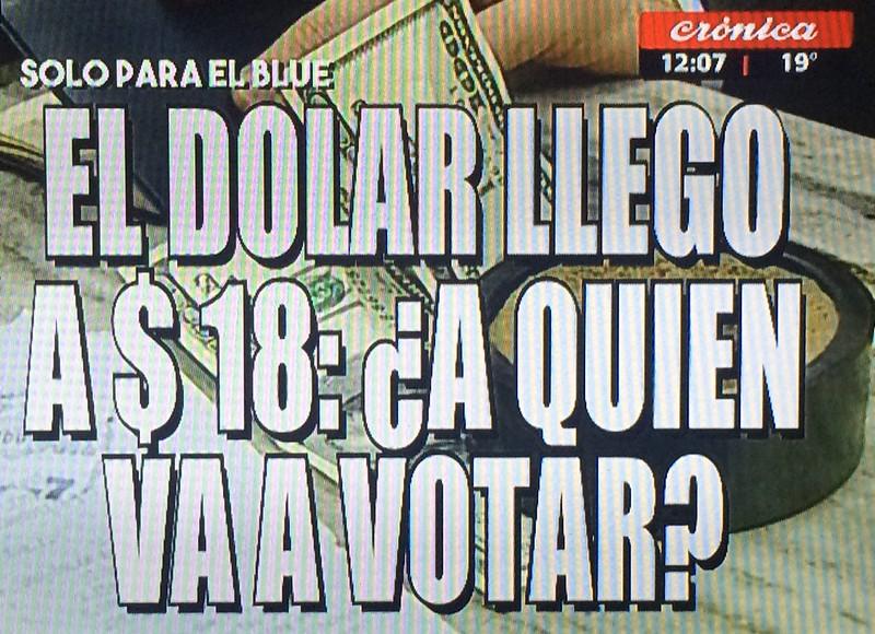 Placa dólar a $18