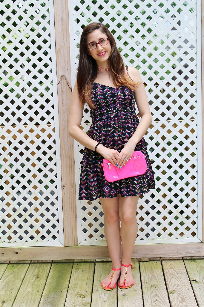 Bright, colorful, and geometric summer dress.