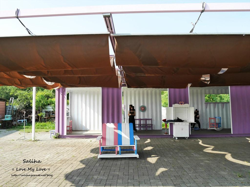 台中沙鹿區一日遊景點推薦好好小館超好拍彩色貨櫃屋婚紗外拍 (1)