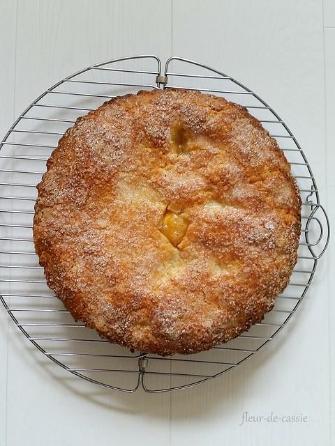 персиковый пирог с коричневым маслом 1
