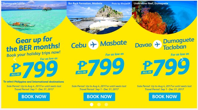 Cebu Pacific Air Promo Gear Up Ber Months Php799