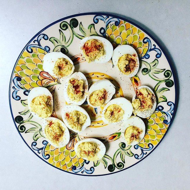 I like my deviled eggs the way I like my men: slightly chunky