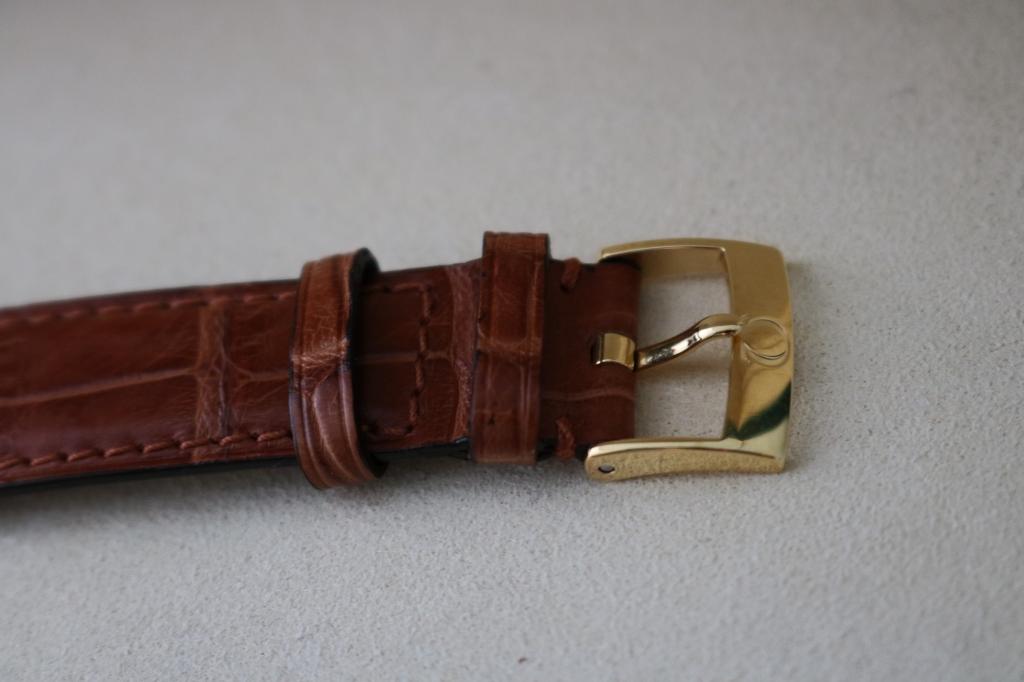 Đồng hồ omega deville – vàng 18k – dây da – kim cương