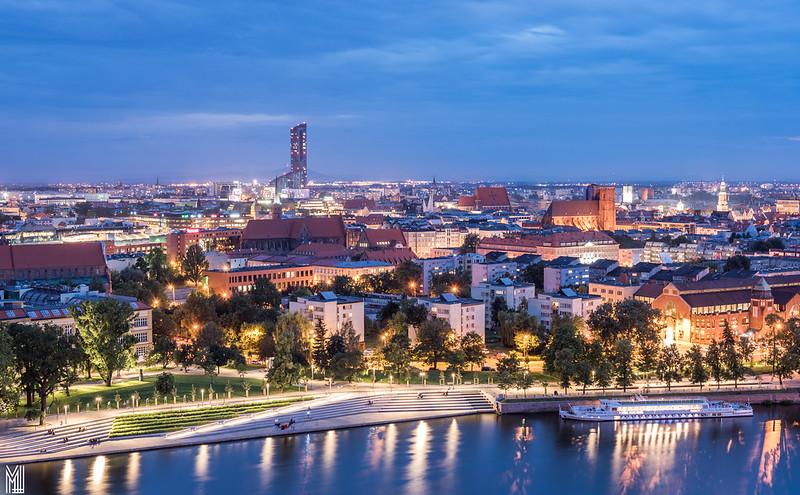Wroclaw blue hour