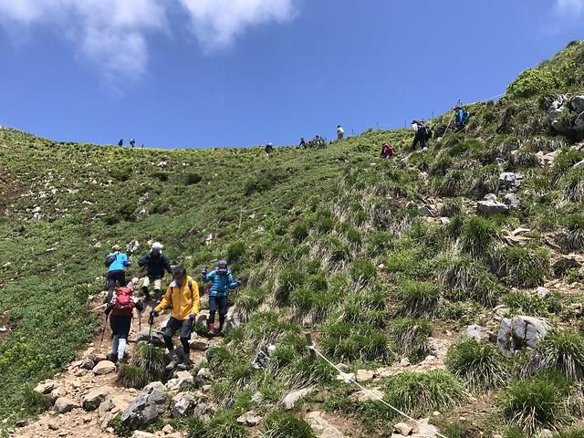 伊吹山 表登山道 山頂周回分岐