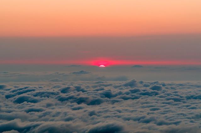 日の出@大天井岳