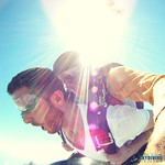 tandem skydiving sun flares