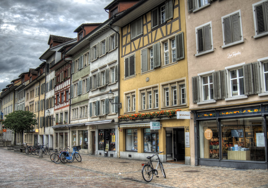 street in the Old Town of Winterthur, Switzerland | A ...