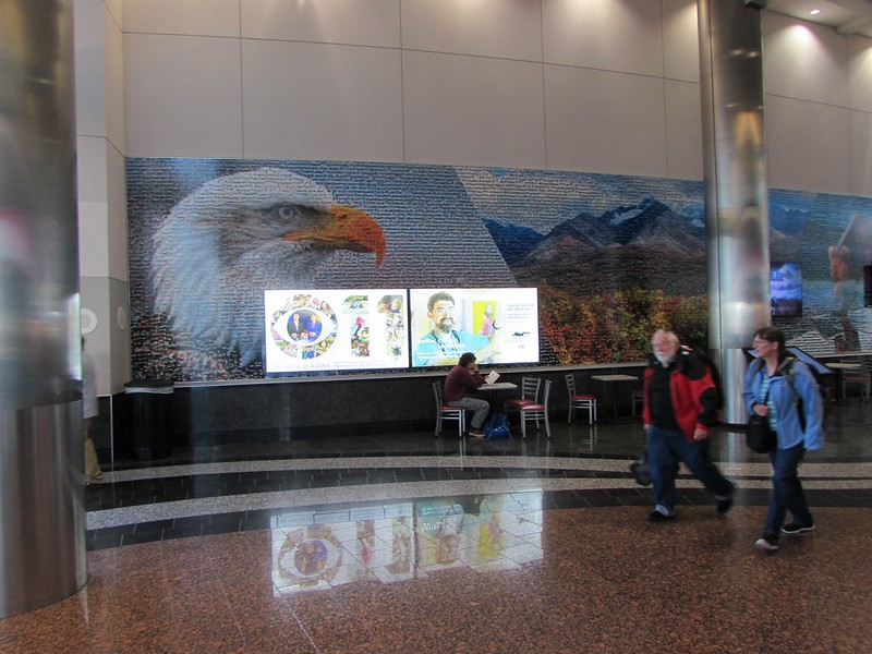 Lovely collage of photos at Anchorage Airport