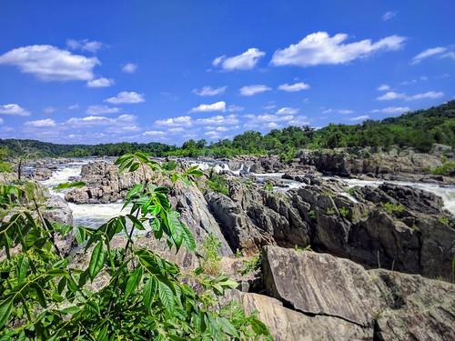 outdoors landscape beautyinnature waterfall cloudsky water washington dc greatfallsnationalpark