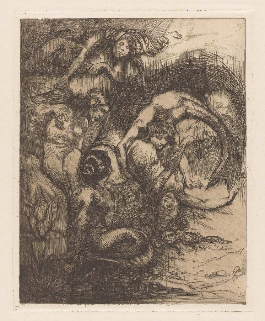 Johannes Josephus Aarts - Five  Mermaids