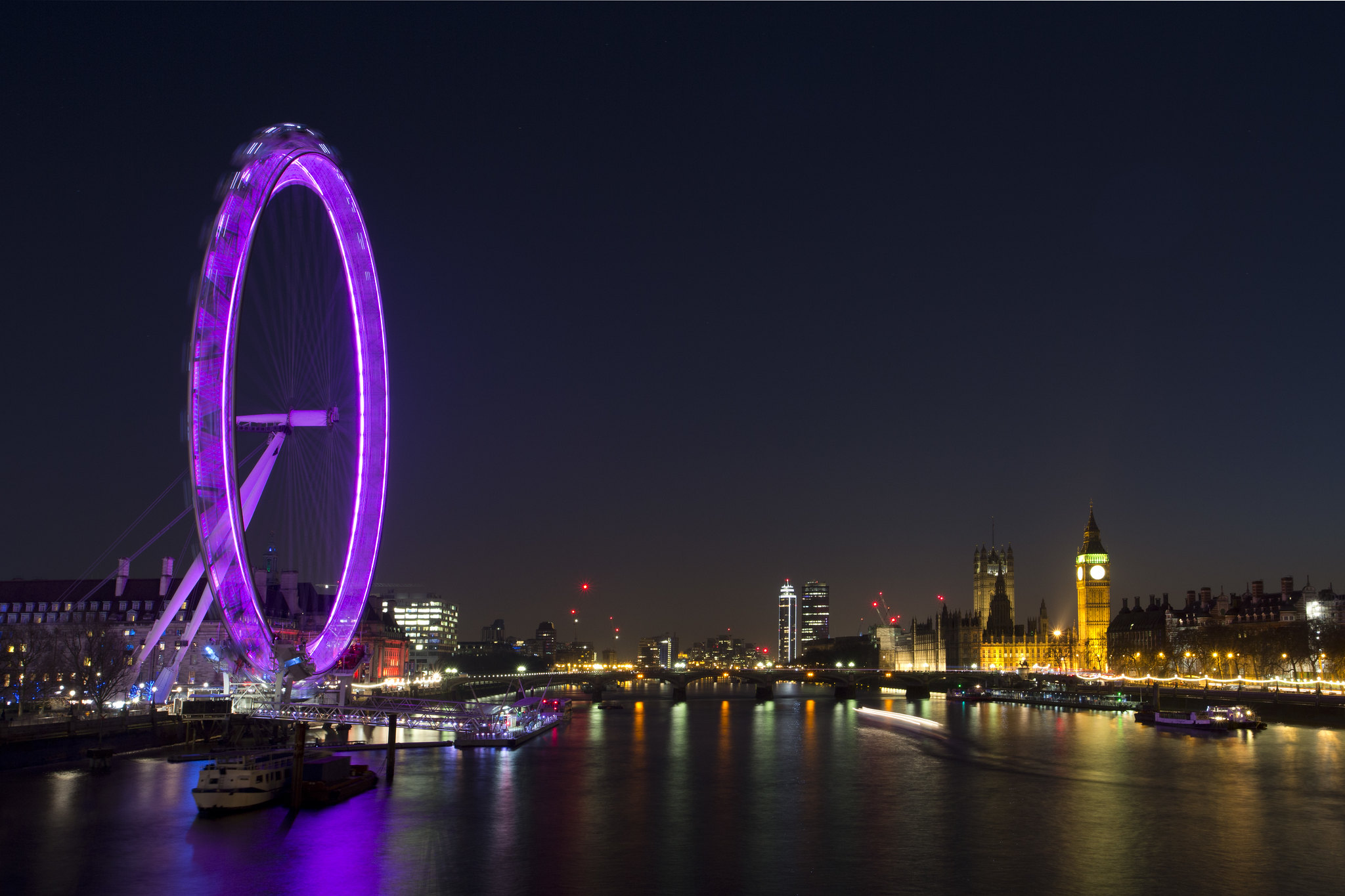 The London Eye and Houses of Parliament