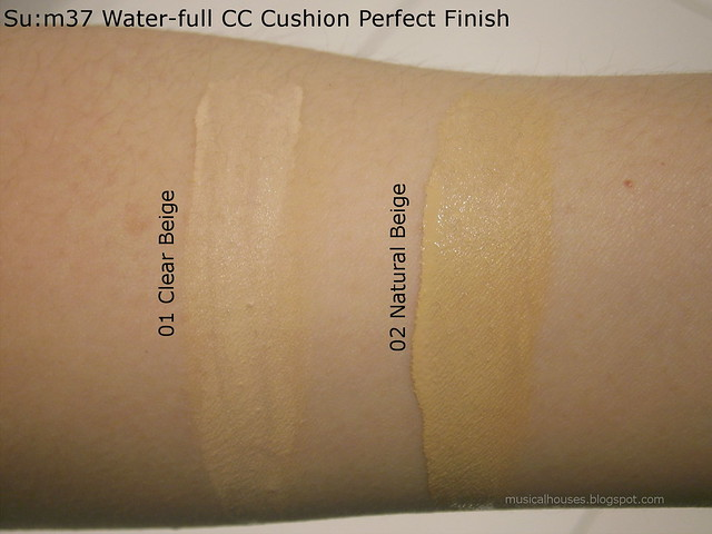 Sum37 Water-full CC Cushion Perfect Finish Swatches