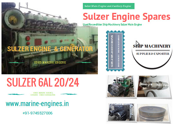 Sulzer 6AL 20/24 complete engine generator and used recondition spare parts for sale,