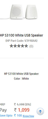 Hp s3100 white speakes