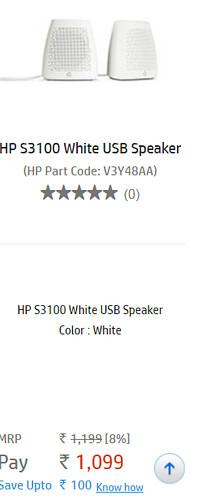 Hp s3100 white speakes