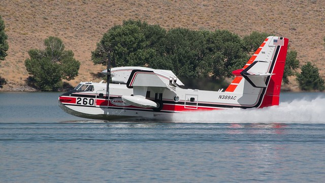 Bombardier CL- 425 Tanker on Topaz Lake