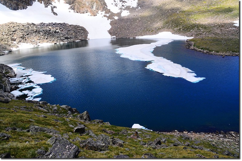 The Lake Dorothy cirque is capped by Mount Neva (12,814') 1